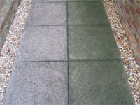 concrete slabs before & after