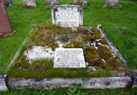 gravestone before spraying
