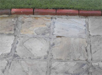 Stone Patio after spraying