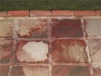 Stone Patio before spraying