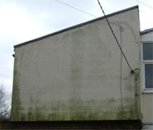 wall before spraying