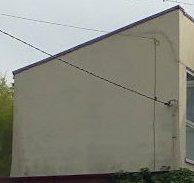 wall during spraying