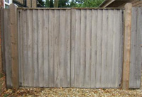 wooden fence after spraying